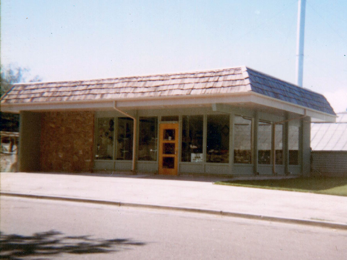 An exterior view of our showroom, taken in the very early 80s